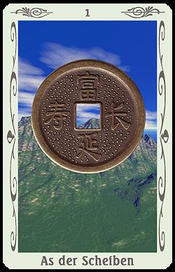 tarot as der scheiben münzen