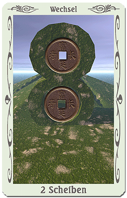 tarot zwei scheiben münzen