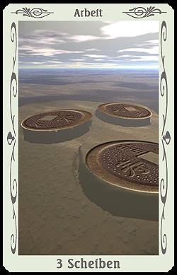 tarot 3 münzen scheiben