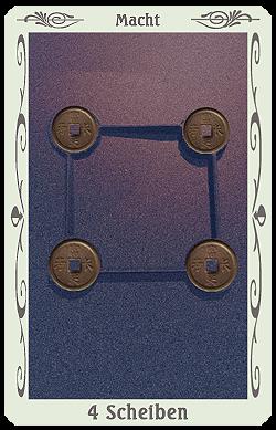 tarot 4 scheiben münzen