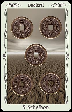 tarot 5 scheiben münzen