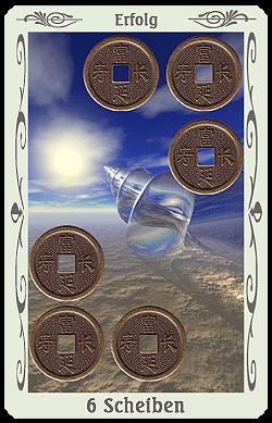 tarot 6 scheiben münzen