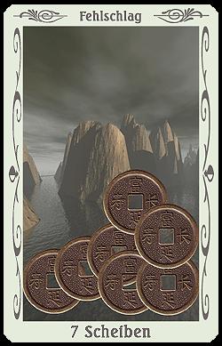 tarot 7 scheiben münzen