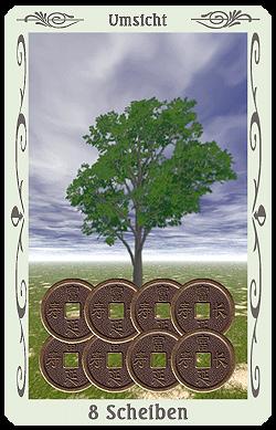 tarot 8 scheiben münzen