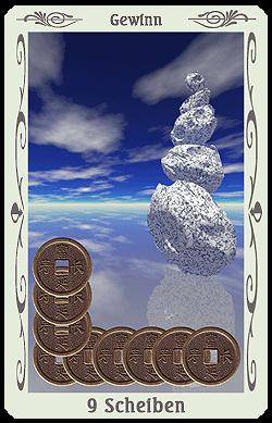 tarot 9 scheiben münzen